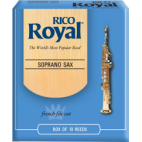 Rico Royal Soprano Saxophone Reed, Strength 4, Box of 10