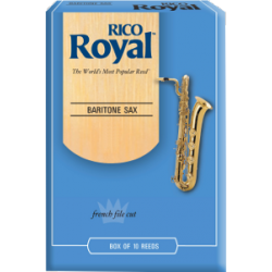 Rico Royal Baritone Saxophone Reed, Strength 3.5, Box of 10