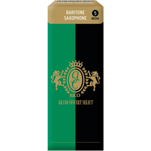 Rico Grand Concert Select Baritone Saxophone Reed, Strength 3, Box of 5