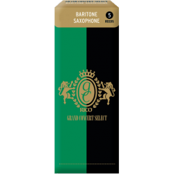 Rico Grand Concert Select Baritone Saxophone Reed, Strength 2.5, Box of 5