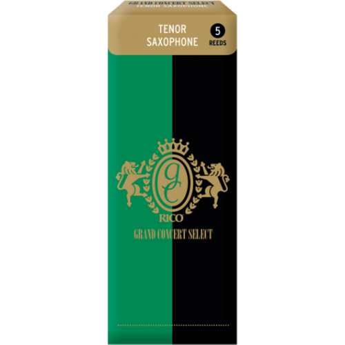 Rico Grand Concert Select Tenor Saxophone Reed, Strength 3.5, Box of 5