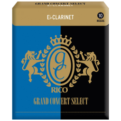 Rico Grand Concert Select Eb Clarinet Reed, Strength 3, Box of 10