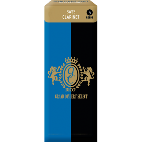 Rico Grand Concert Select Bass Clarinet Reed, Strength 4, Box of 5