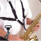 Alto/Tenor Saxophone Strap with Plastic Snap For Men