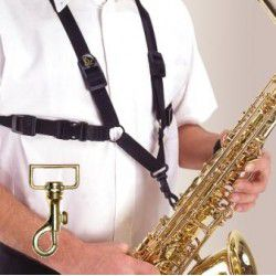 Alto/Tenor/Baritone Saxophone Strap with Metal Hook For Men (XL)