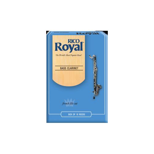 Rico Royal Bass Clarinet Reed, Strength 2.5, Box of 10