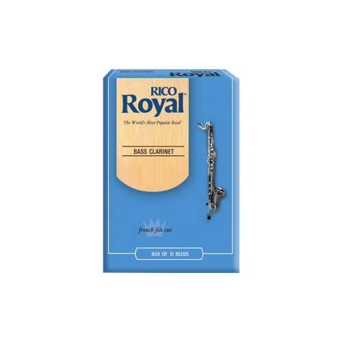 Rico Royal Bass Clarinet Reed, Strength 3.5, Box of 10