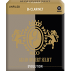 Rico Grand Concert Select Evolution Bb Clarinet Reed, Strength 3, Box of 10