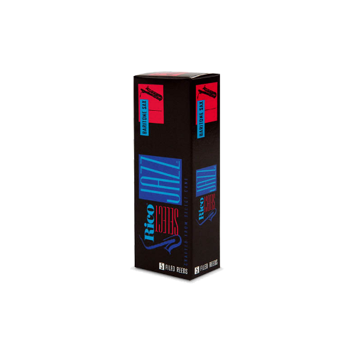 D'Addario Select Jazz Baritone Saxophone Reed, Strength 2, Filed (Medium), Box of 5