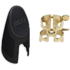 Rico Gold Plated H-Ligature and Cap for Tenor Saxophone with Metal Link Mouthpiece