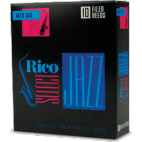 D'Addario Select Jazz Alto Saxophone Reed, Strength 4, Filed (Soft), Box of 10