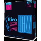 D'Addario Select Jazz Soprano Saxophone Reed, Strength 4, Filed (Soft), Box of 10