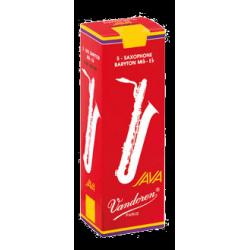Vandoren Java Red Baritone Saxophone Reed, Strength 2.5, Box of 5