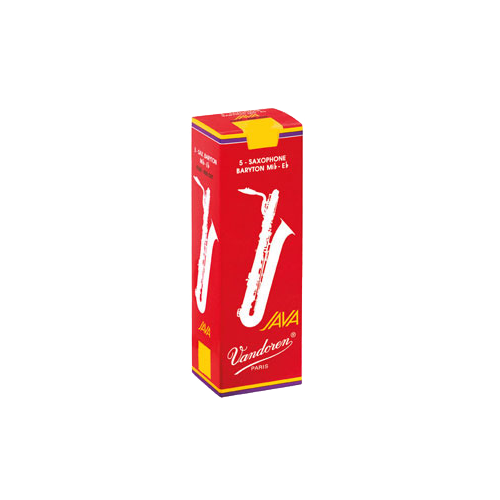 Vandoren Java Red Baritone Saxophone Reed, Strength 3, Box of 5