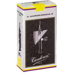 Vandoren V12 Soprano Saxophone Reed, Strength 2.5, Box of 10