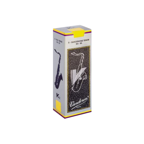 Vandoren V12 Tenor Saxophone Reed, Strength 4, Box of 5