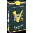Vandoren V16 Alto Saxophone Reed, Strength 2, Box of 10
