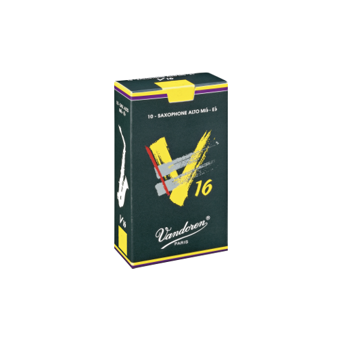 Vandoren V16 Alto Saxophone Reed, Strength 1.5, Box of 10