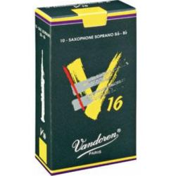 Vandoren V16 Soprano Saxophone Reed, Strength 4, Box of 10