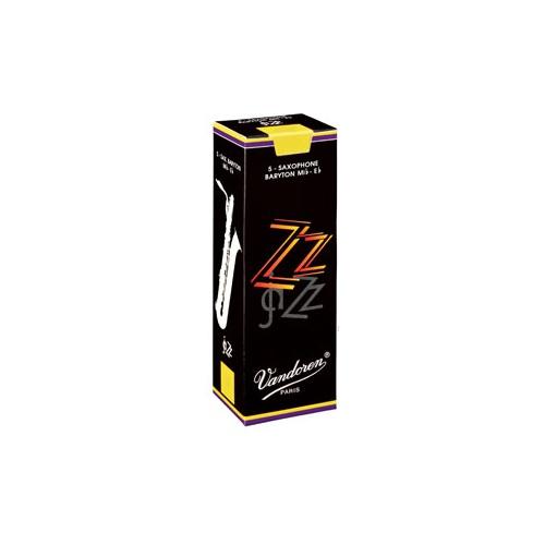 Vandoren ZZ Baritone Saxophone Reed, Strength 2.5, Box of 5