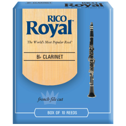 Rico Royal Bb Clarinet Reed, Strength 3, Box of 10