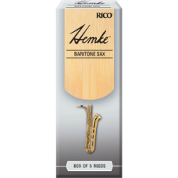 Rico Hemke Premium Baritone Saxophone Reed, Strength 4, Box of 5