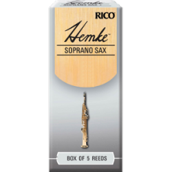 Rico Hemke Premium Soprano Saxophone Reed, Strength 2, Box of 5