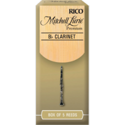 Rico Mitchell Lurie Premium Bb Clarinet Reed, Strength 2.5, Box of 5