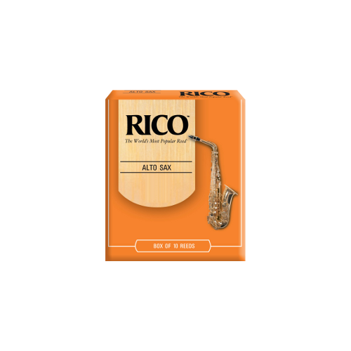 Rico Orange Alto Saxophone Reed, Strength 2, Box of 10
