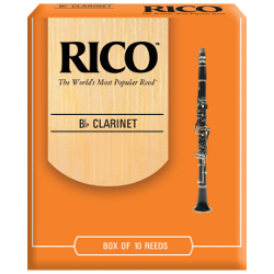 Rico Orange Bb Clarinet Reed, Strength 1.5, Box of 10