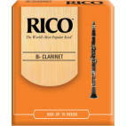 Rico Orange Bb Clarinet Reed, Strength 3, Box of 10