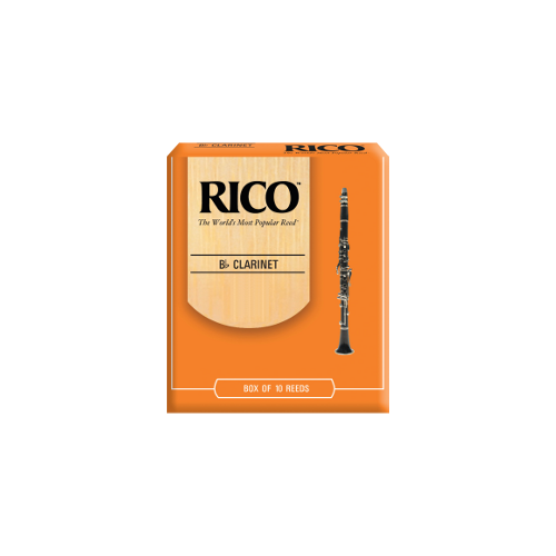 Rico Orange Bb Clarinet Reed, Strength 3.5, Box of 10