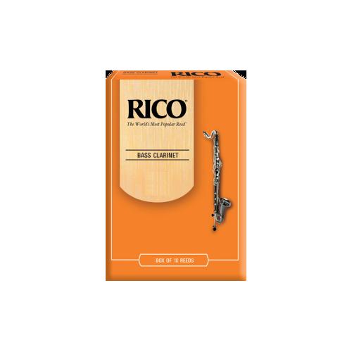Rico Orange Bass Clarinet Reed, Strength 3.5, Box of 10
