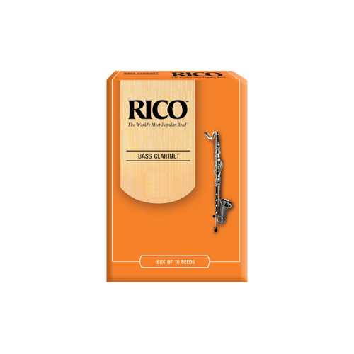 Rico Orange Bass Clarinet Reed, Strength 2.5, Box of 10