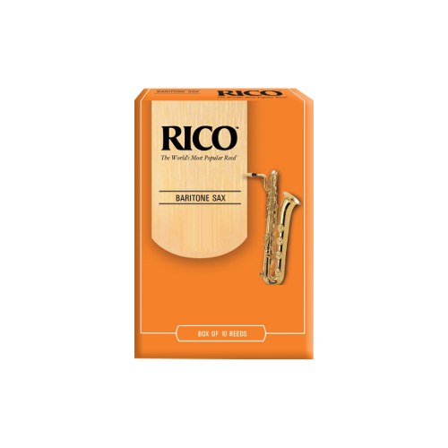 Rico Orange Baritone Saxophone Reed, Strength 2.5, Box of 10