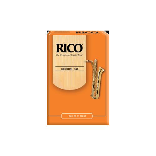 Rico Orange Baritone Saxophone Reed, Strength 3, Box of 10
