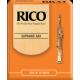 Rico Orange Soprano Saxophone Reed, Strength 1.5, Box of 10